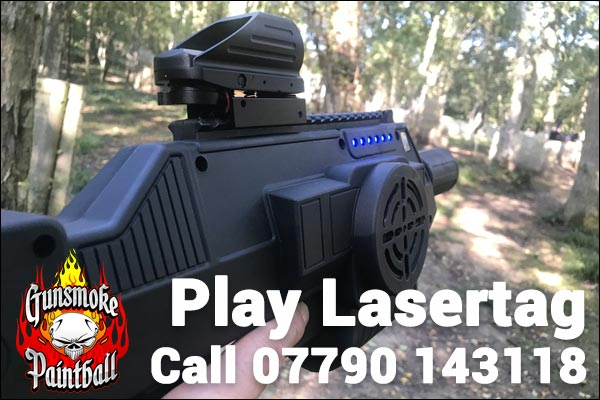 Play lasertag at Gunsmoke Paintball