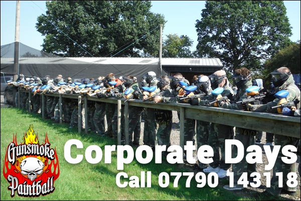 Corporate days for your employees at Gunsmoke Paintball