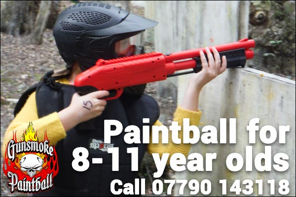 Gunsmoke splatmaster paintball for 8 to 11 year olds