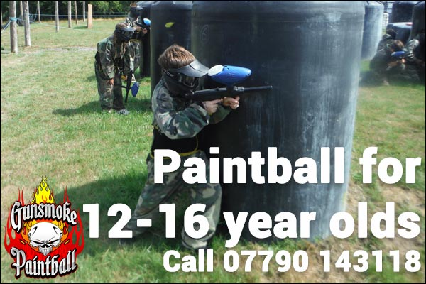 paintball for 12 to 16 year olds