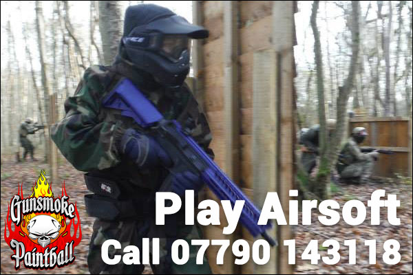 Play airsoft at Gunsmoke Paintball every 2nd sunday each month